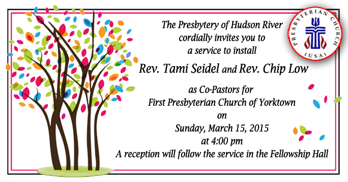 Installation Service For New Pastor Program   just b.CAUSE