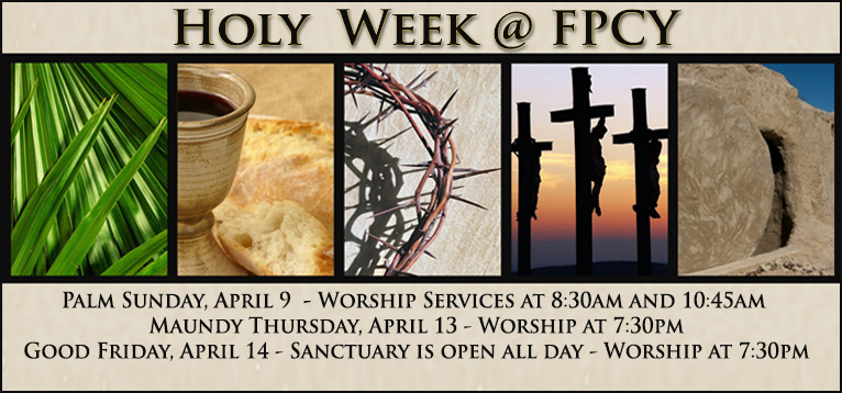 Holy Week 2017 Graphic