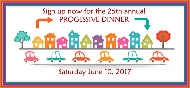 Progressive Dinner SIGN UP Graphic