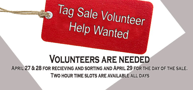 Tag sale Volunteer 3