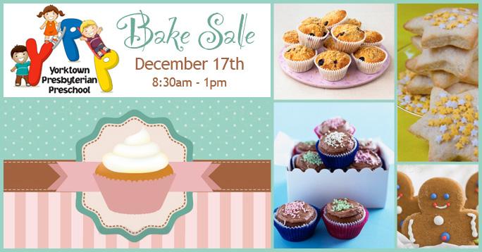 Preschool Bake Sale December 17th First Presbyterian